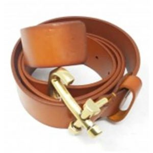 Anchor leather belt brown