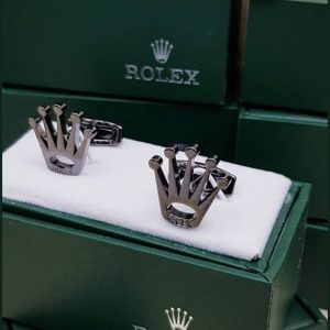 Rolex Silver Metal Cufflinks