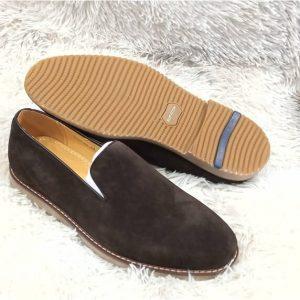 Bugatchi Suede Brown Shoe