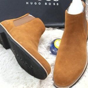 Hugo Boss Suede Ankle Boot Brown