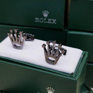 Rolex Cufflinks Silver