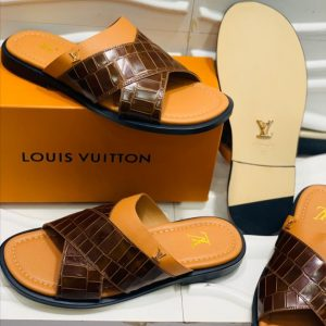 Louis Vuitton Slippers Brown