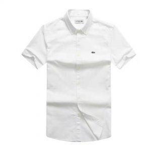 Lacoste Shirt White Short Sleeve