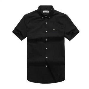 Lacoste Shirt Black Short Sleeve