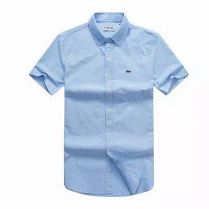 Lacoste Shirt Sky Blue Short Sleeve