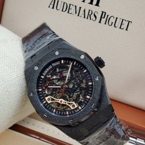 Audemars Piguet Black Chain Bracelet Wristwatch