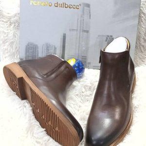 Renato Dulbecc Leather Brown Ankle Boot