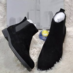 Renato Dulbecc Suede Black Ankle Boot shoe