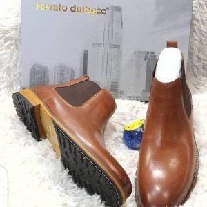 Renato Dulbecc Plain Leather Brown Boot