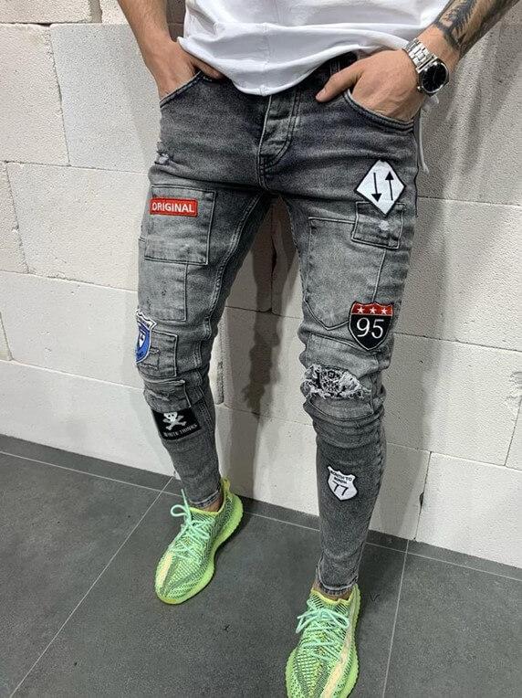 Stylish Jeans - Grey