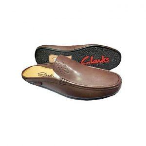Clarks Half Shoe – Plain Brown