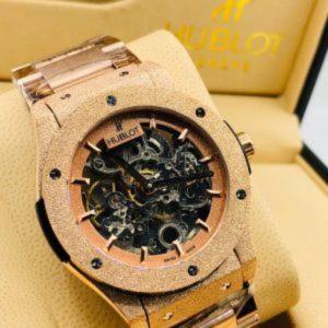 Hublot Rose Gold Chain Bracelet Wristwatch
