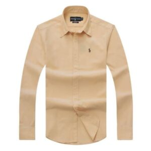 Ralph Lauren Long Sleeve Plain Shirt – Cream