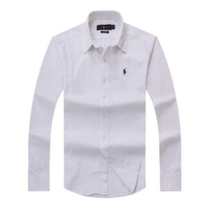 Ralph Lauren Long Sleeve Plain Shirt – White