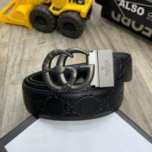 Gucci Men Leather Belt Black