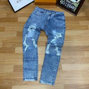 Slight Rugged Jeans Blue