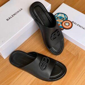 Balenciaga Cover Slippers Black