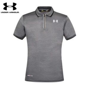 Under Armour Polo Shirt Ash White Collar