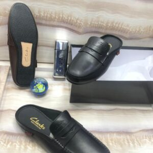 Clarks Half Shoe Loafers Black