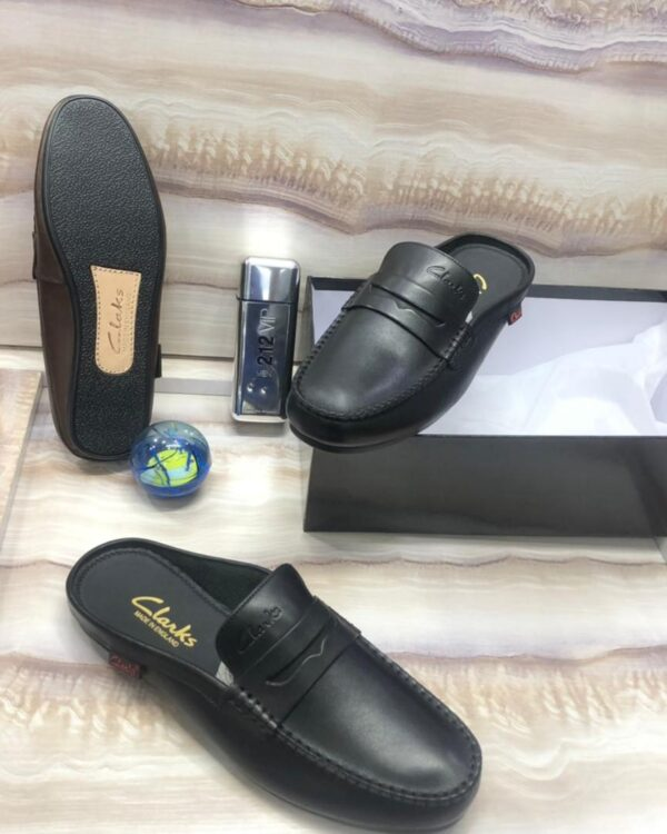 Clarks Half Shoe Loafers Black 3