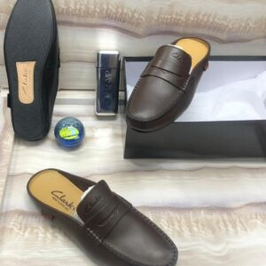 Clarks Half Shoe Loafers Brown