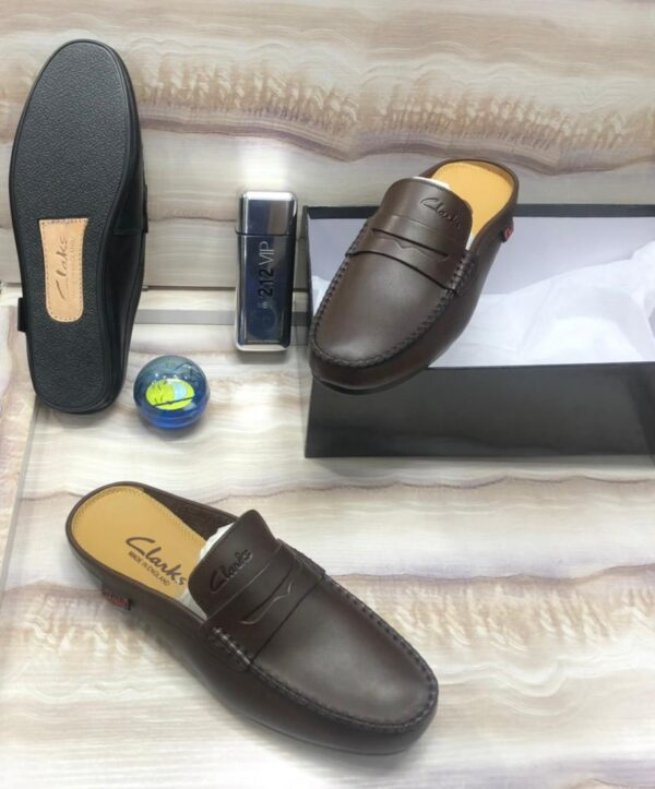 Clarks Half Shoe Loafers Brown 3