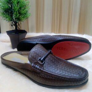 Salvatore Ferragamo Half Shoe Loafers Brown