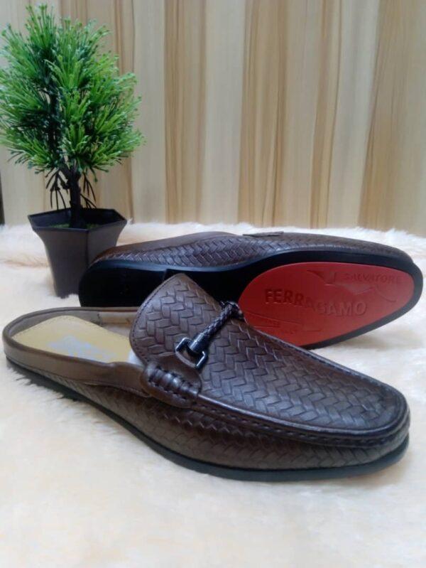 Salvatore Ferragamo Half Shoe Loafers Brown 3