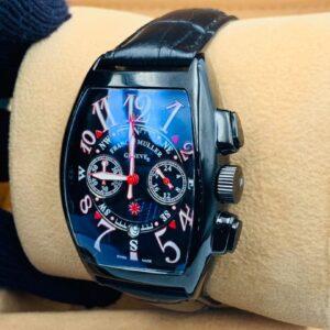 Franck Muller Leather Strap Watch
