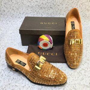 Gucci Stone Shoe Gold