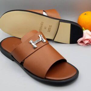 Hermes Slippers Brown