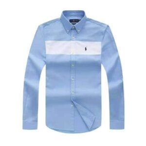 "Ralph Lauren Plain Long Sleeve Shirt Sky Blue ""White"""
