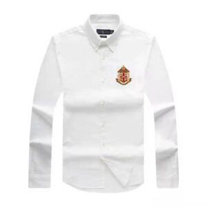 Ralph Lauren Crested Plain Long Sleeve Shirt White