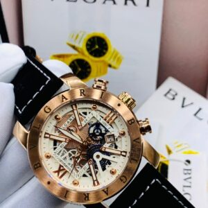 Bvlgari Gold Leather Watch