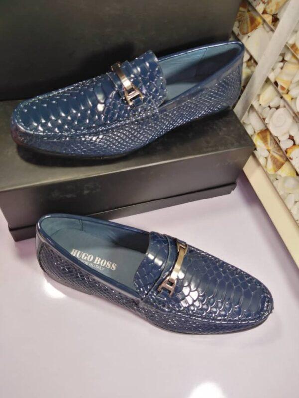 Hugo Boss Blue Patent Loafers 3