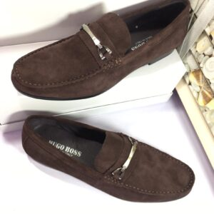 Hugo Boss Brown Suede Loafers