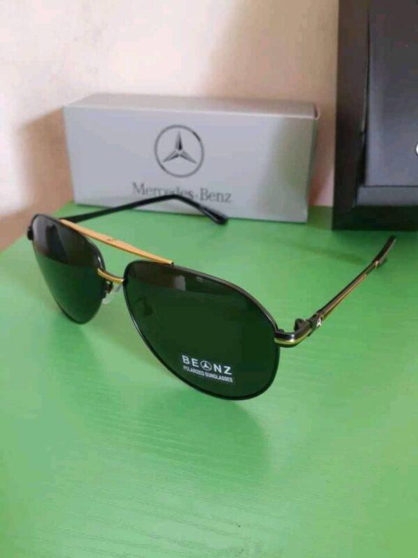 Mercedez Benz Polarised Sunglasses Gold 3