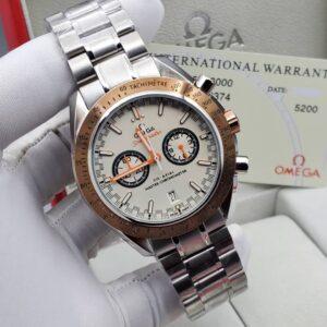 Omega White Face Silver Bracelet Watch
