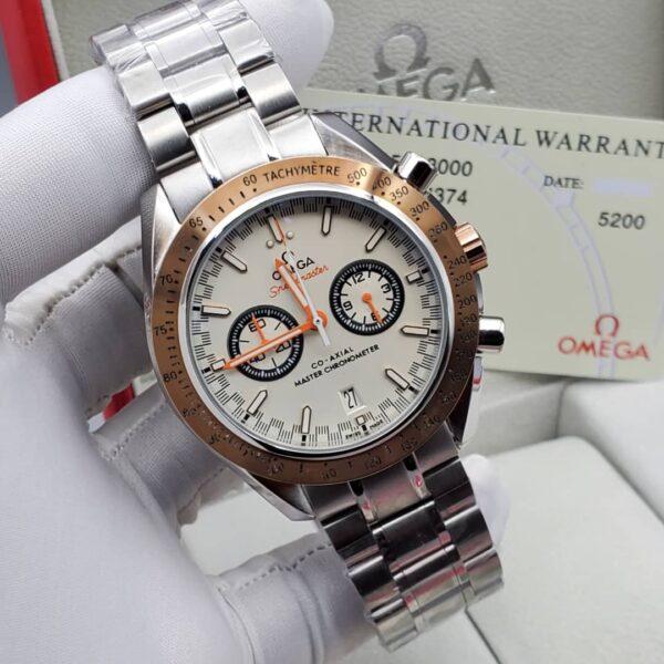 Omega White Face Silver Bracelet Watch 3