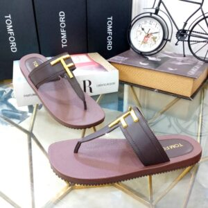 Tomford Slippers Coffee Brown