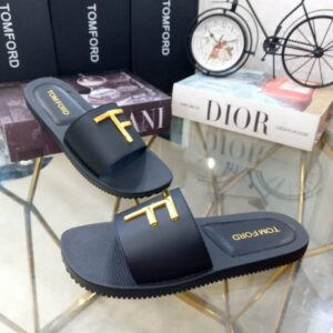 Tomford  Cover Slippers Black