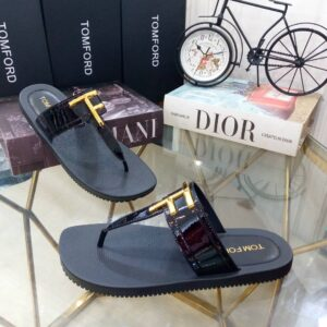 Tomford Slippers Black Patent