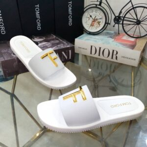 Tomford Cover Slippers White