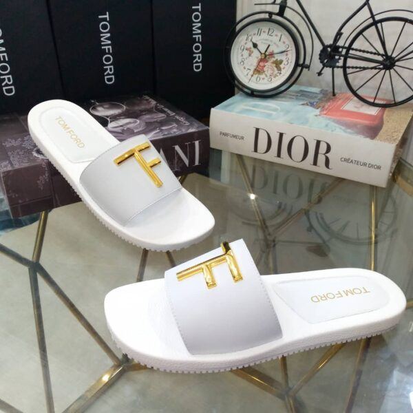 Tomford Cover Slippers White 3