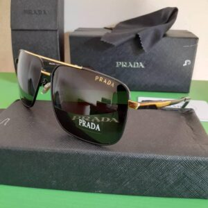 Prada Polarised Sunglasses Gold