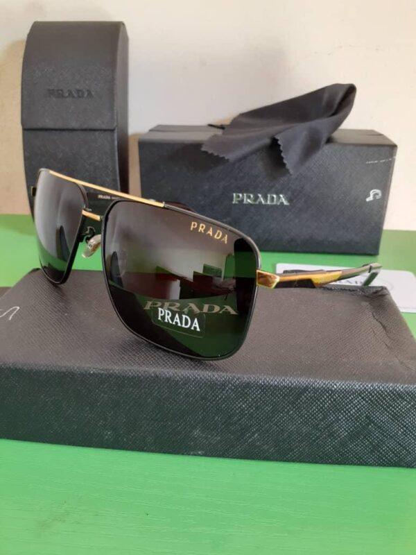 Prada Polarised Sunglasses Gold 3