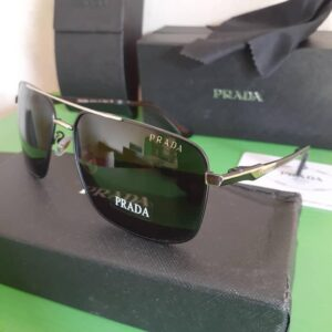 Prada Polarised Sunglasses Silver