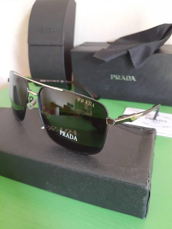 Prada Polarised Sunglasses Silver 3