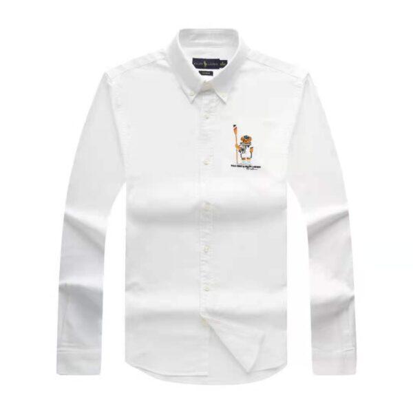 Polo Ralph Lauren Plain Shirt White 3