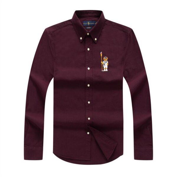 Polo Ralph Lauren Plain Shirt Wine 3